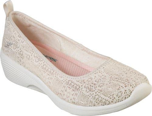 Skechers Arya Airy Days Shoe Ladies Summer Natural